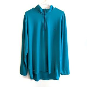 SOUTHERN TIDE turquoise half zip pull over XL